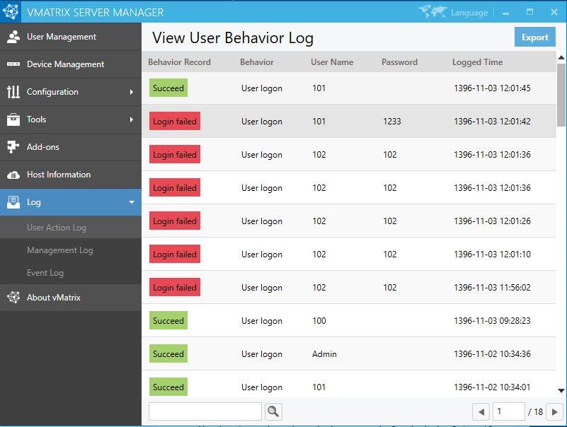 گزارش کار در vmatrix -زیرو کلاینت vcloudpoint