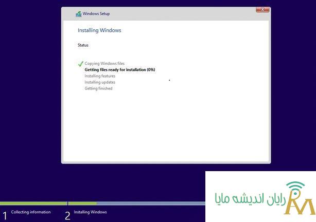 مرحله settingنصب ویندوز