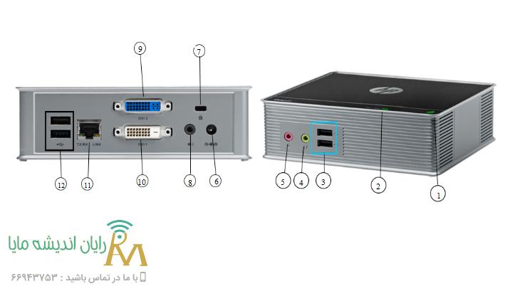 اچ_پی_t310 – ports – تین کلاینت hp