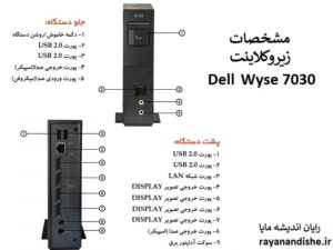 مشخصات زیروکلاینت dell wyse 7030